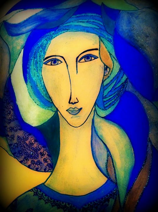 La dame bleue - Bouzana Léandre