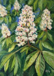 Chestnut blooms