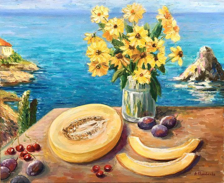 Yellow flowers - Anastasiya Kharchenko