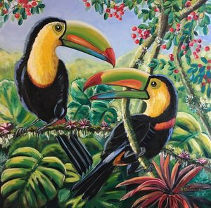 Couple of toucans