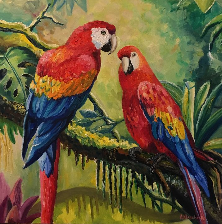 Parrots - Anastasiya Kharchenko