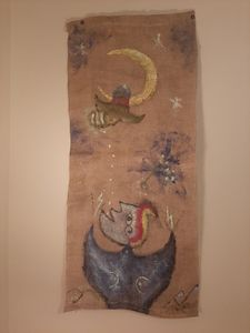 Woman with Firefly under the Moon