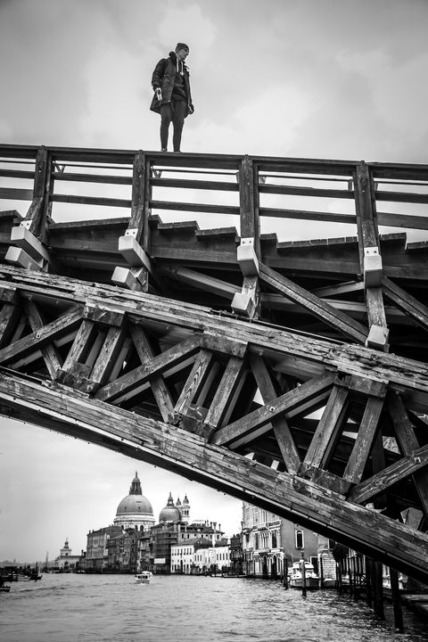 Standing on top of the bridge Venice - Dalibor Balic