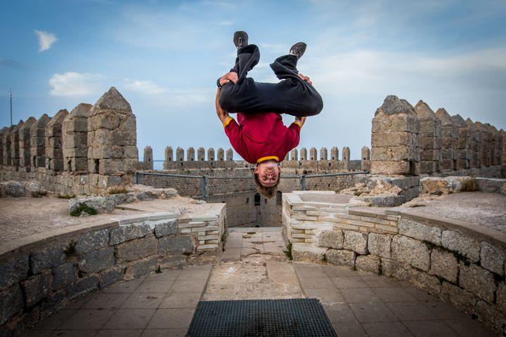 Backflip on castle simmetric - Dalibor Balic
