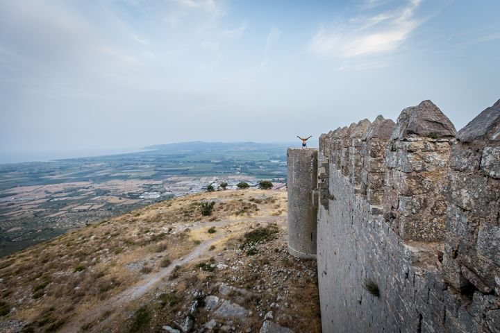 Handstand on tower of old castle - Dalibor Balic