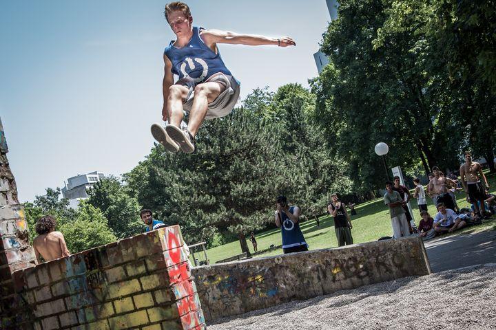 Huge parkour jump - Dalibor Balic
