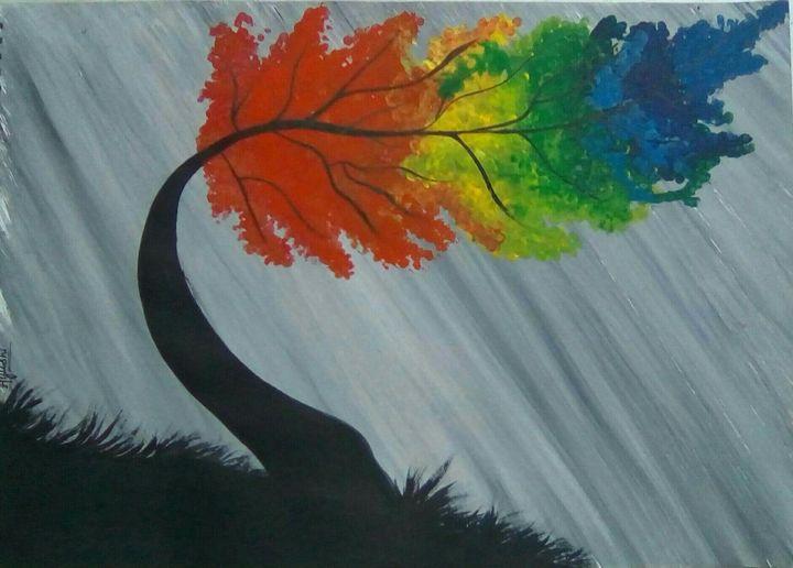 Rainbow Willow Tree - Ayushi