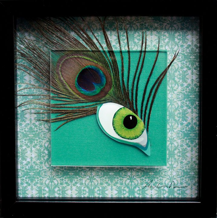 Eye of the Beholder - Amber Dawn Plexi Art