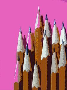 Wooden pencil art