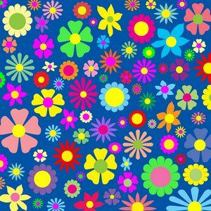 Colorful floral art