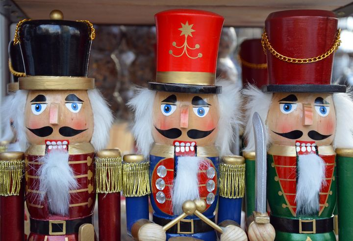 Three colorful christmas nutcrackers - Perl Photography