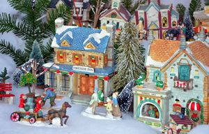 Colorful christmas village