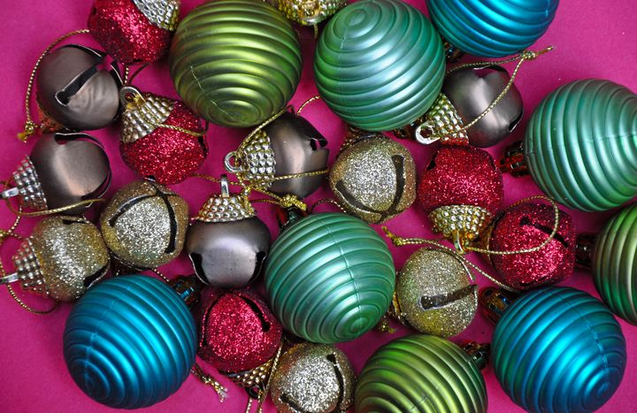 Colorful christmas ornaments - Perl Photography