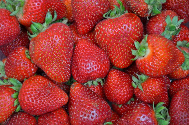 Fresh red strawberries - Perl Photography