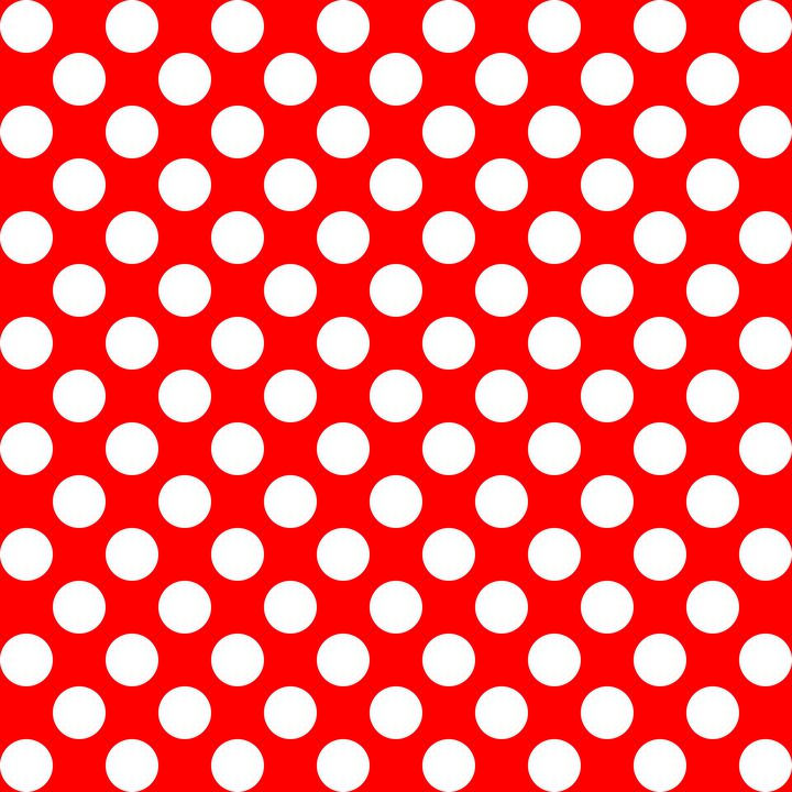 White and red polka dots pattern - Perl Photography