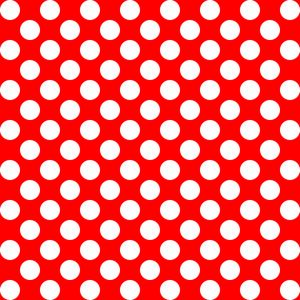 White and red polka dots pattern