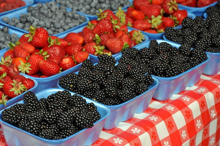 Fresh berrries at market - Perl Photography