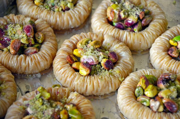 Freshly made baklava pastry - Perl Photography