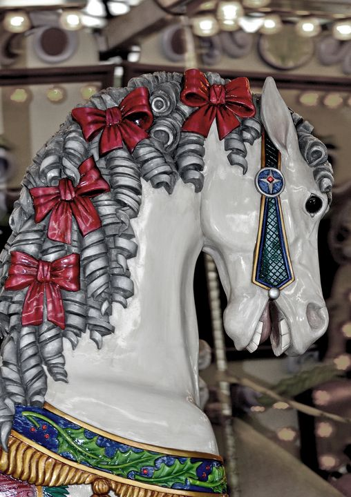 Vintage carousel horse - Perl Photography
