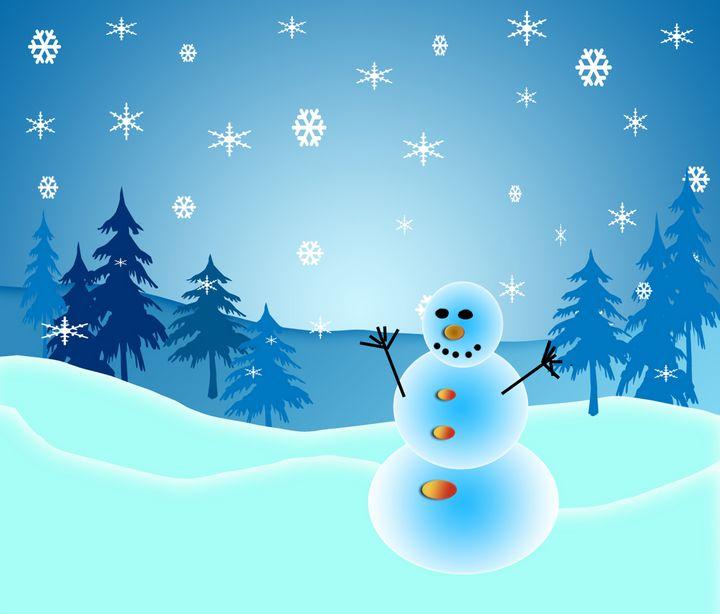 Cute Christmas snowman - Perl Photography