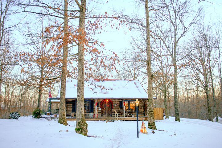 Winter Cabin - Jodie Morgan