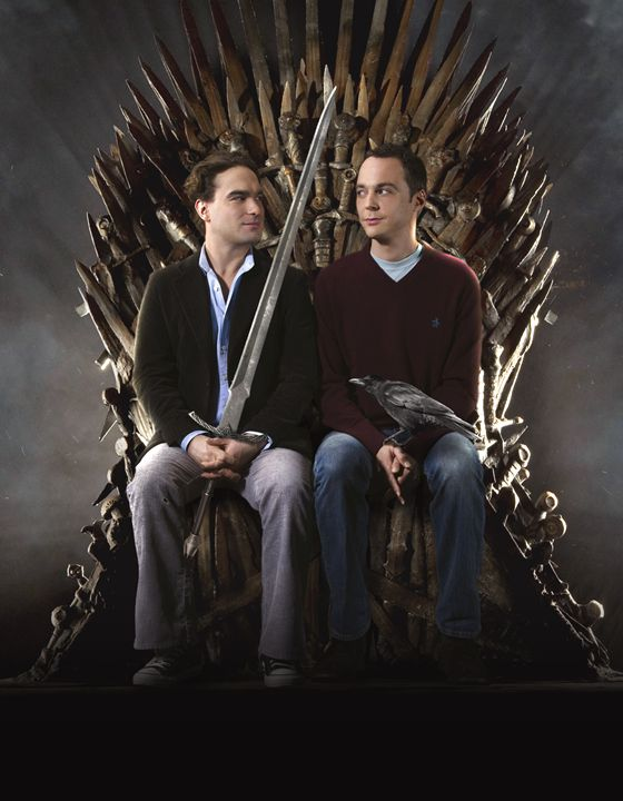 Sheldon and Leonard, Game of Thrones - BrunoSousa