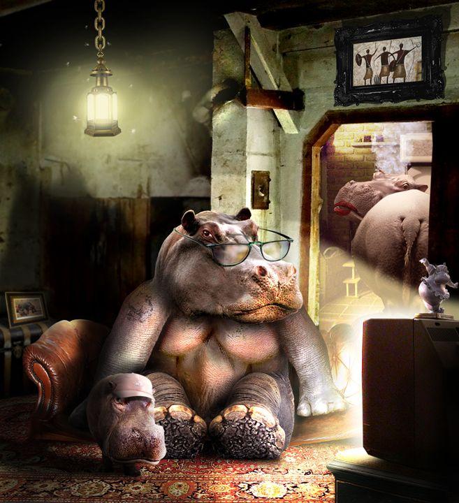 A cool Hippo family - BrunoSousa
