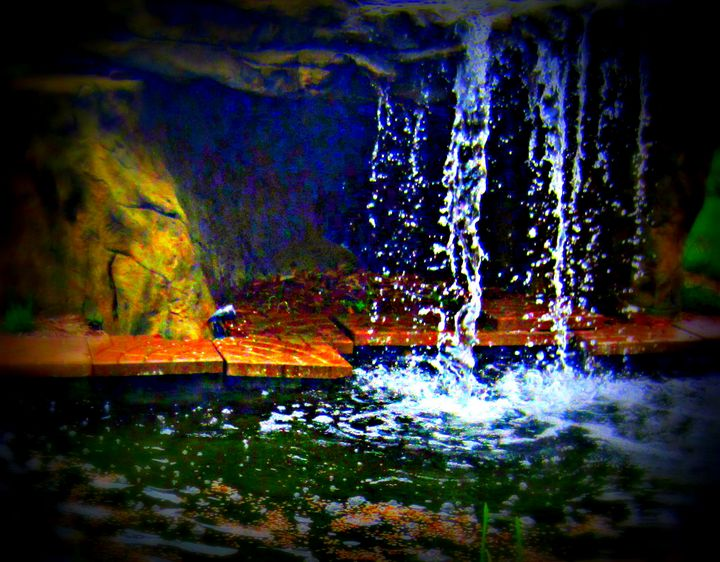 Night Waterfall - Expressive Images