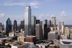 Sunny Day Skyline of Dallas Texas