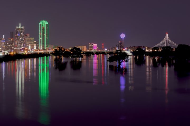 Skyline of Dallas, Texas at Night - Photography by Stretch
