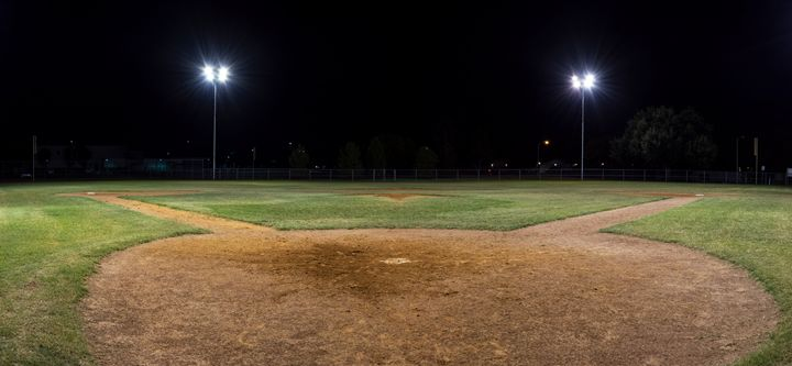 Panorama of empty baseball field at - Photography by Stretch