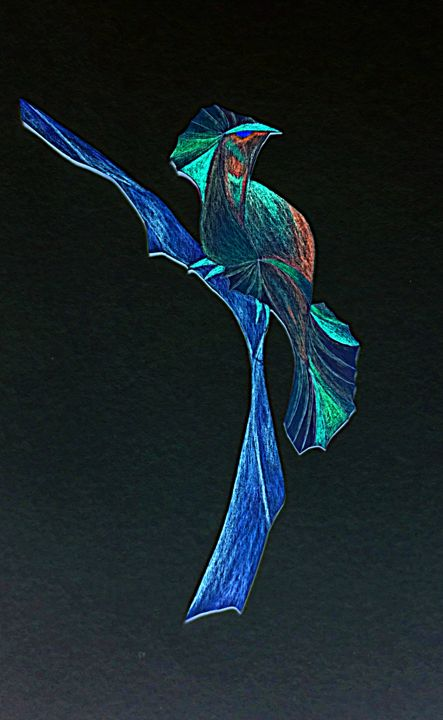 night bird on branch - Artsiesfm