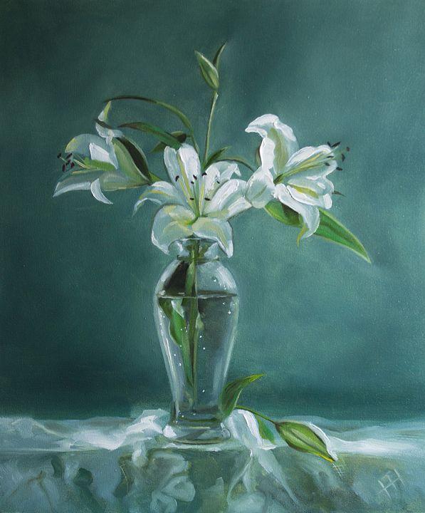 Painting still life lily - ZhannaZakharchenko