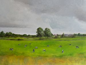 Oil painting Cows