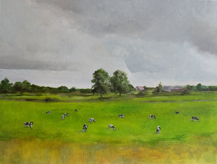 Oil painting Cows - ZhannaZakharchenko