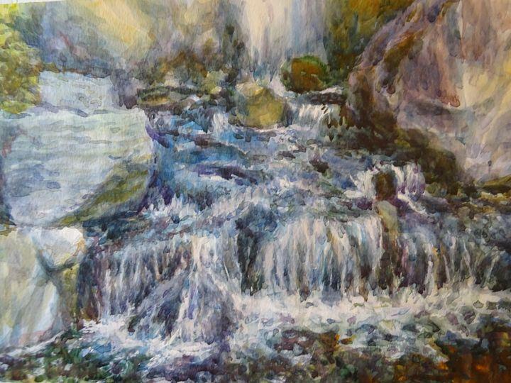 Waterfall in Holland Park - Solomon Grace