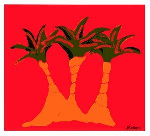 THREE TREES SHINING - Tweetylynn Designs