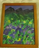 8 by 10 Mountain painting