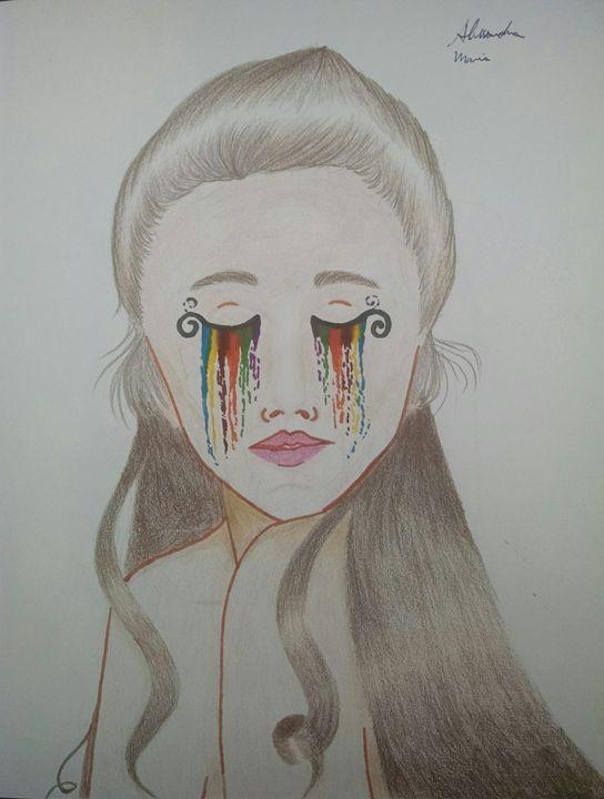 Rainbow tears - Alessandra Maria