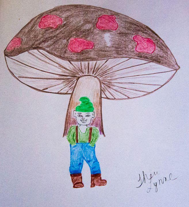 Happy Little Gnomey - Barefoot Kid