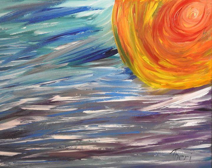 Watery Sunset - Barefoot Kid