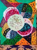 Geometric oil painting