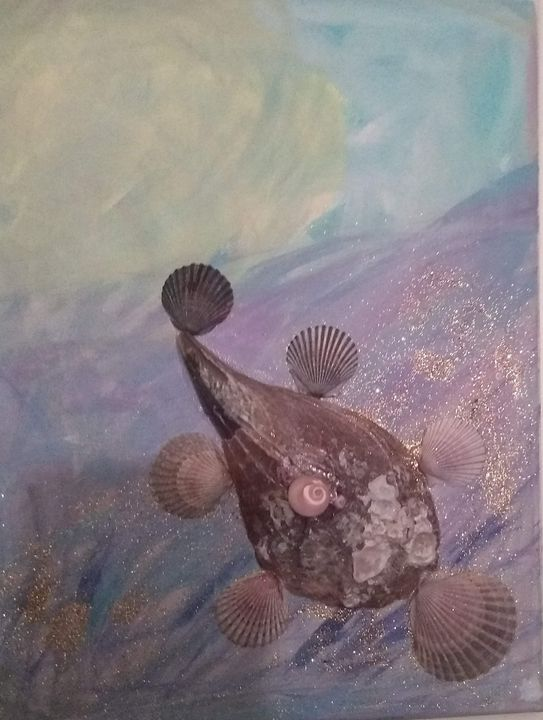 Turtle swimming in the ocean - Theresa's unique gallery