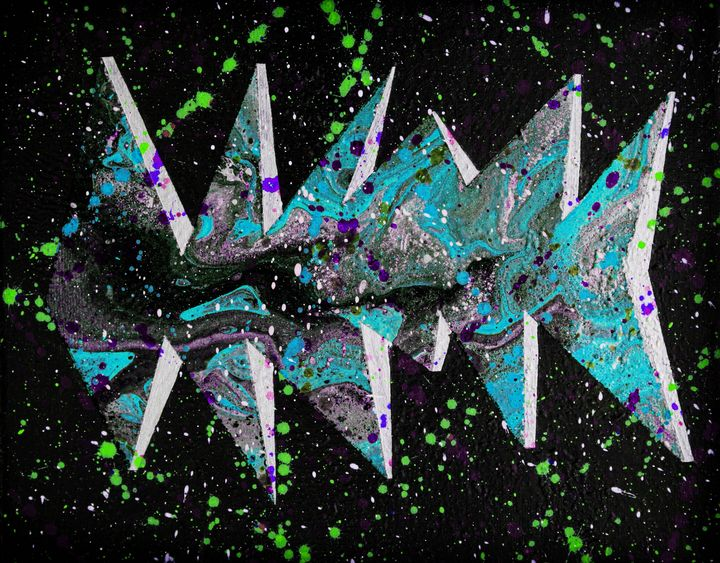 Fishmas tree psychedelic - Ali Coull - Abstract Art
