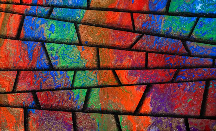 Psychedelic stairway - Ali Coull - Abstract Art