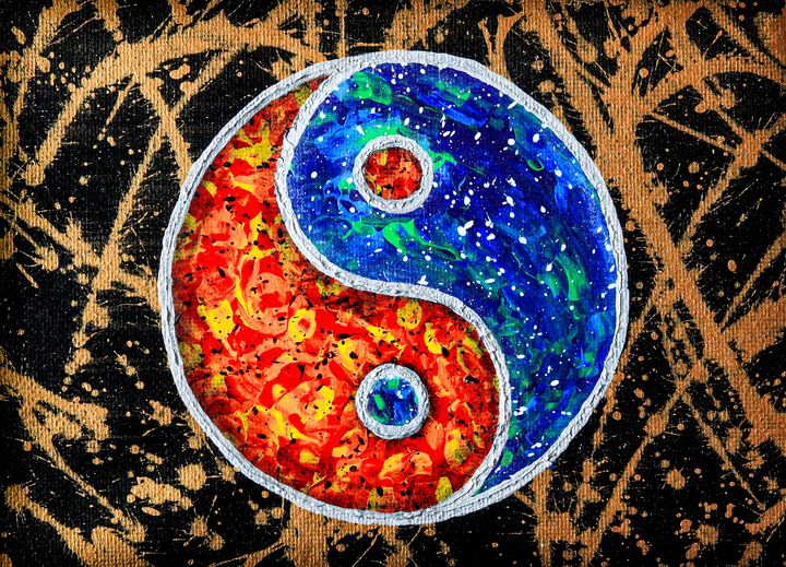 Psychedelic Yin and Yang - Ali Coull - Abstract Art