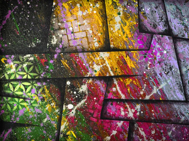 Cosmic colour war - Ali Coull - Abstract Art