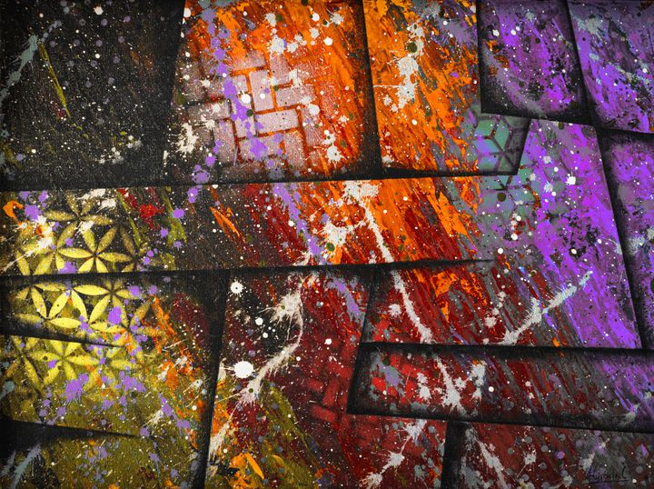 Cosmic colour wars - Ali Coull - Abstract Art
