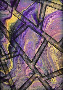 Purple marble flow