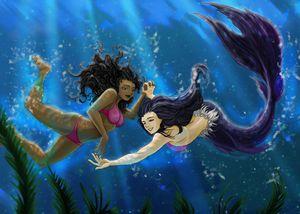 Mermaids couple